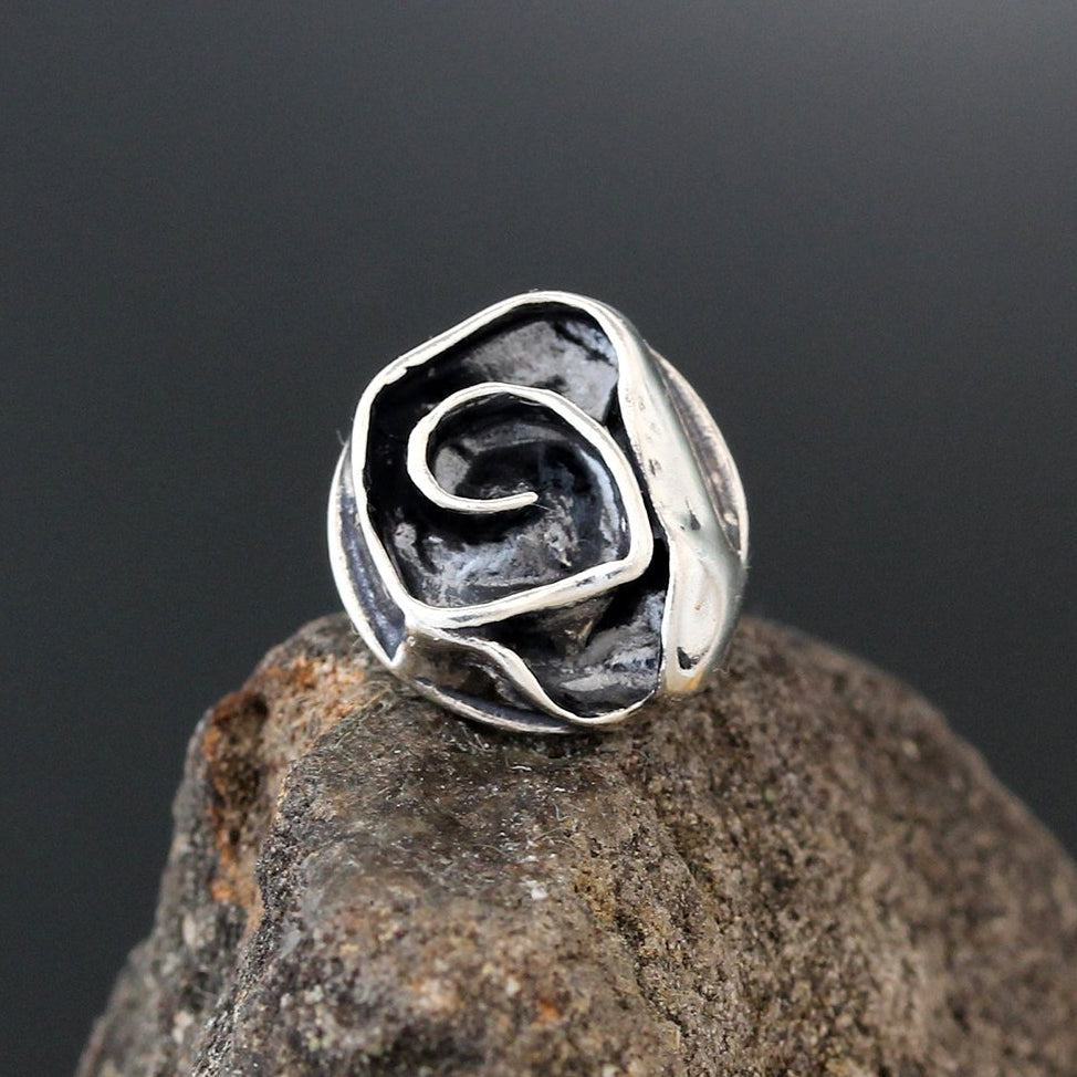 Small Sterling Silver Rose Scatter Pin