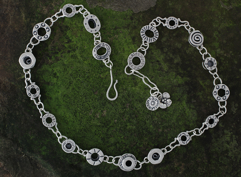Sterling Silver Substantial Element Necklace