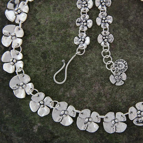 Sterling Silver Dogwood Flower Necklace