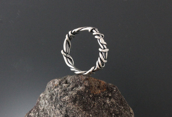 Sterling Silver Wrapped Vine Ring