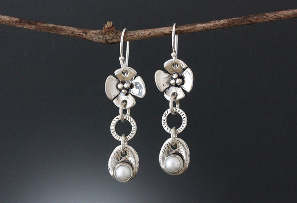 Sterling Silver Pearl Jewelry Set