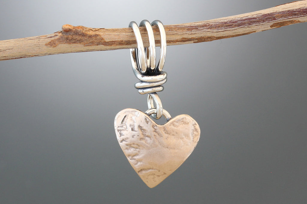 Bronze or Sterling Silver Small Heart Pendant