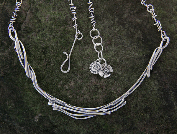 Sterling Silver Vine Neck Ring
