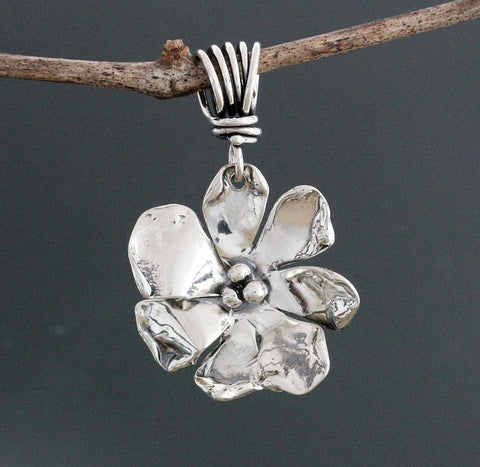 Sterling Silver Windflower Pendant