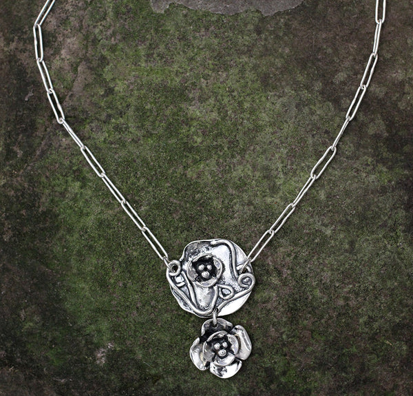 Dogwood Flower & Lily Pad Jewelry Set