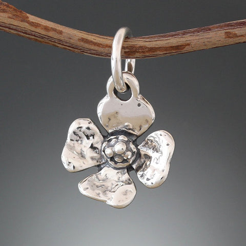 Sterling Silver Primrose Pet Tag