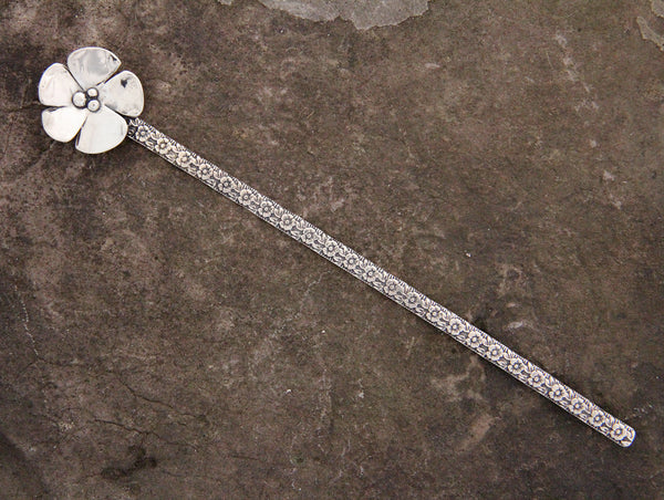 Sterling Silver Dogwood Flower Hair Pin