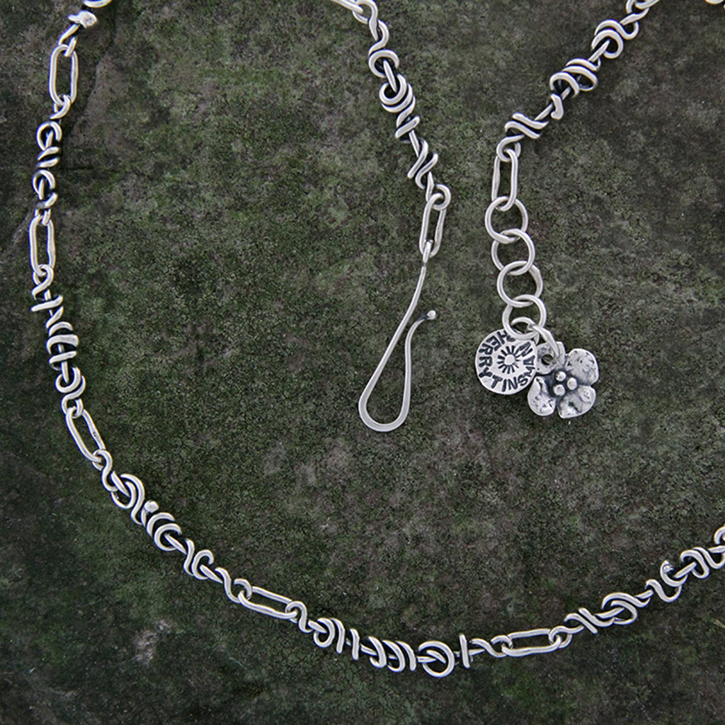 Sterling Silver Wrapped Vine Chain Necklace