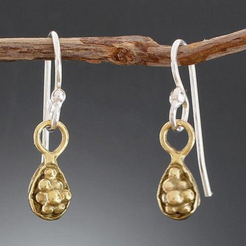 Brass Grape Cluster Earrings