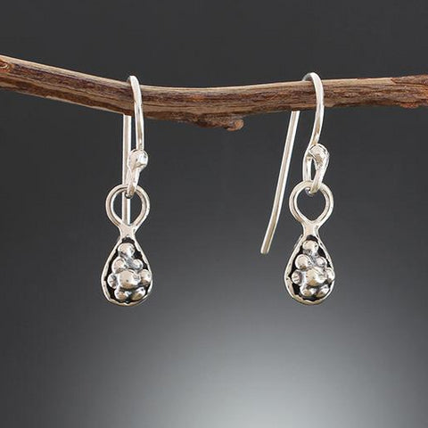 Sterling Silver Grape Cluster Earrings