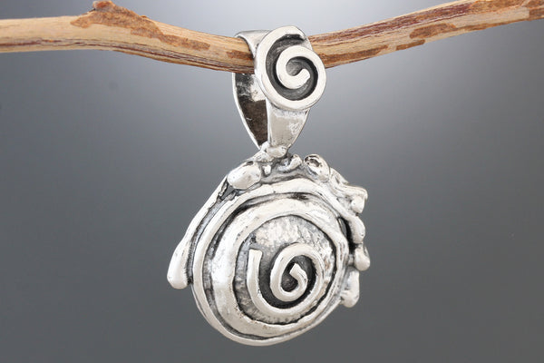Structured Spiral Pendant