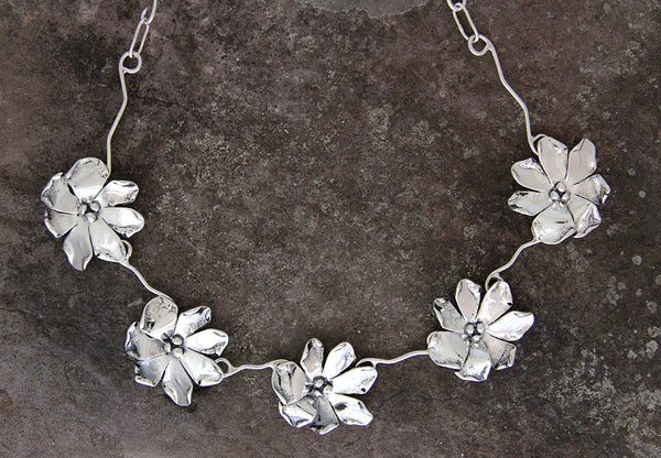 Sterling Silver Windflower Jewelry Set