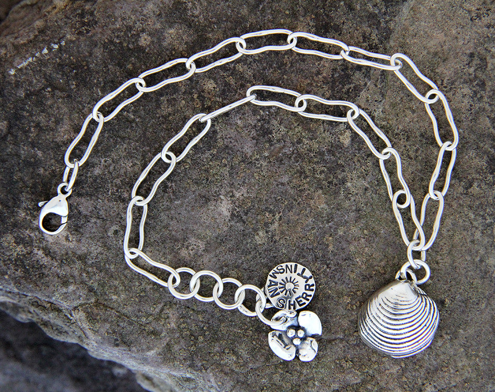 Sterling Silver Sea Shell Anklet