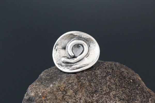 Small Sterling Silver Abstract Spiral Scatter Pin