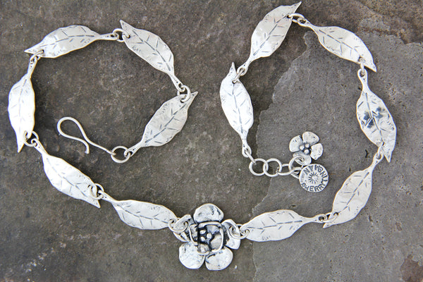 Leaf & Double Dogwood Necklace