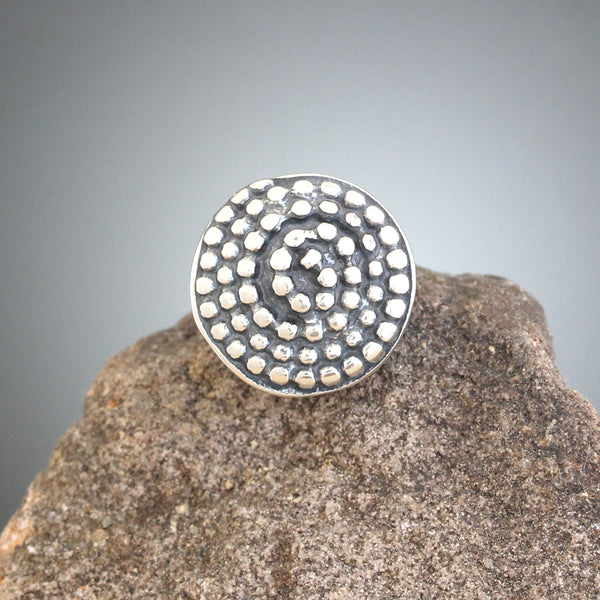 Small Beaded Spiral Scatter Pin