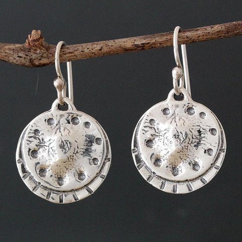 Sterling Silver Shield Earrings