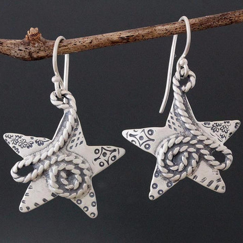 Rope Star Earrings