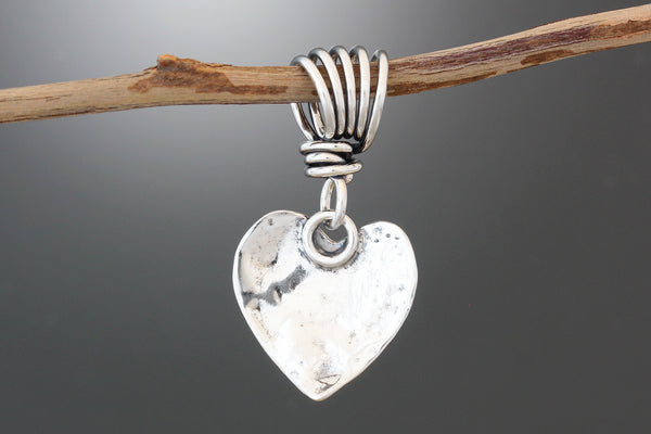 Sterling Silver Heart & Dogwood Pendant
