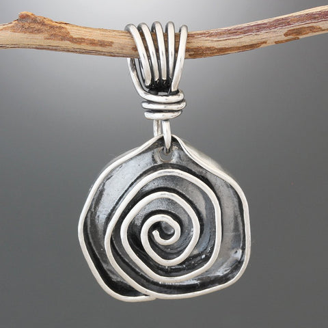 Sterling Silver New Rose Pendant