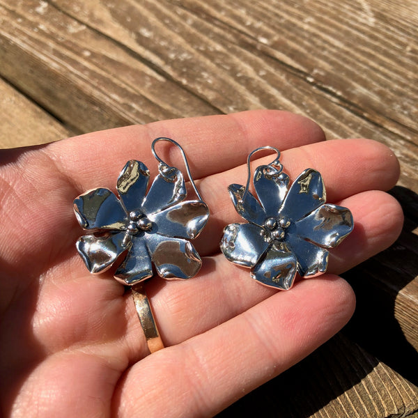 Sterling Silver Windflower Earrings