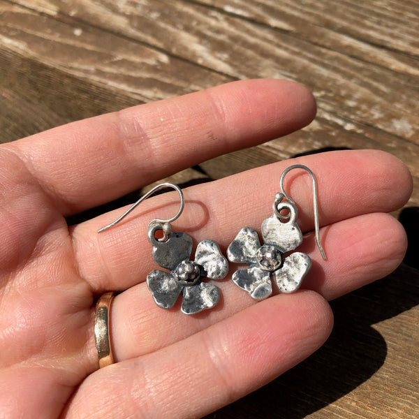 Sterling Silver Primrose Earrings