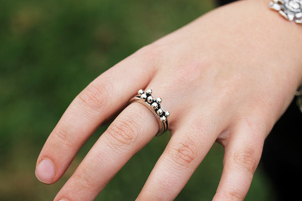 Sterling Silver Three Band Blanche Ring