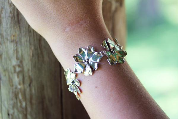 Sterling Silver Windflower Bracelet