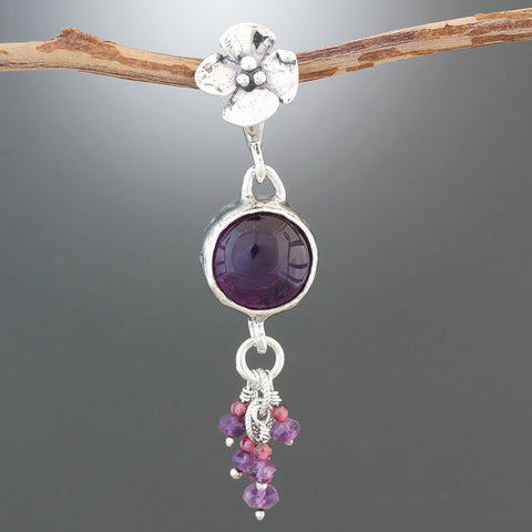 Amethyst Stone Cluster Pendant