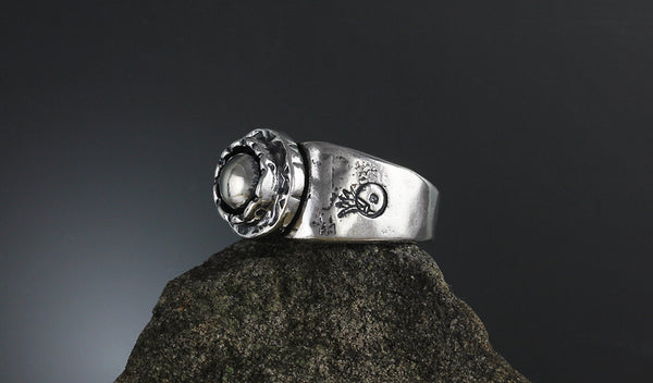 Sterling Silver Ball Etruscan Ring