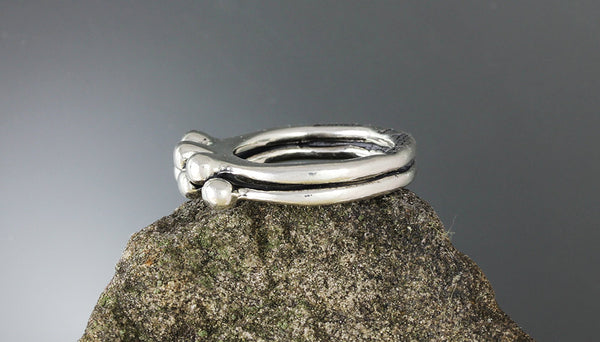Sterling Silver Two Band Blanche Ring