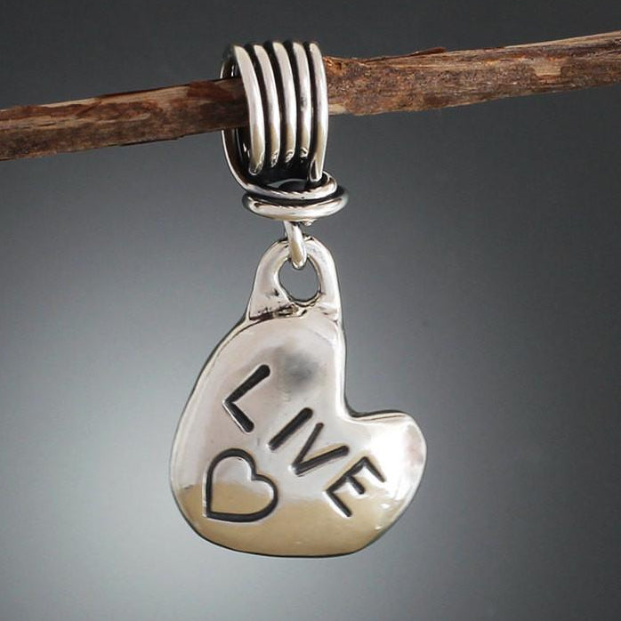 Sterling Silver Live Heart Pendant