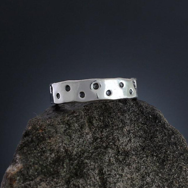 Sterling Silver Dot Stamped Ring