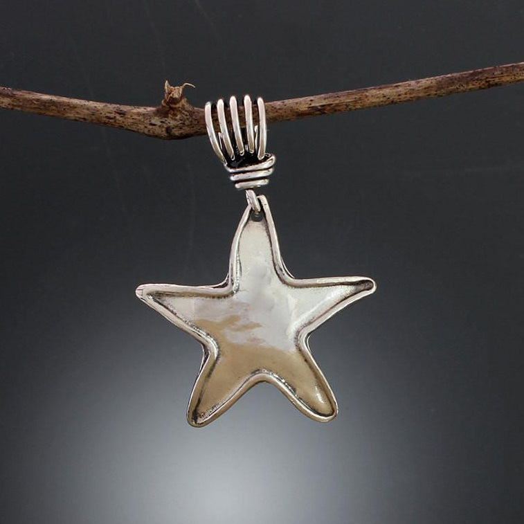 Sterling silver star pendant sherry tinsman metalsmith sterling silver star pendant mozeypictures Image collections