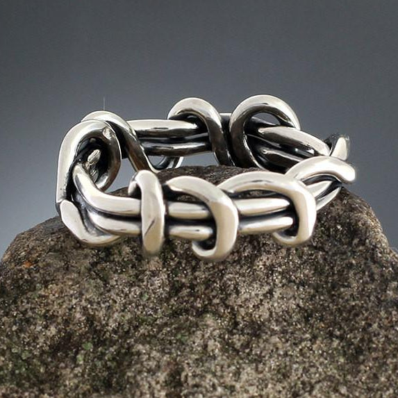 Sterling Silver Heavy Wrap Vine Ring