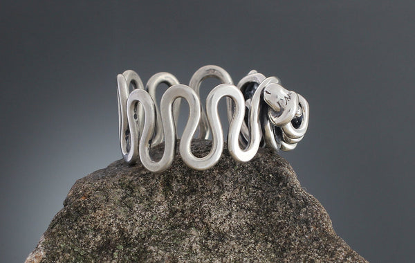 Sterling Silver Abstract Vine Ring