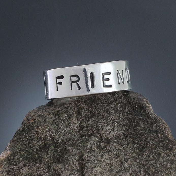 Sterling Silver Friends Ring
