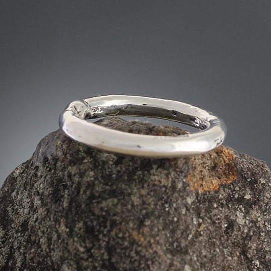 Sterling Silver Textured Round Ring