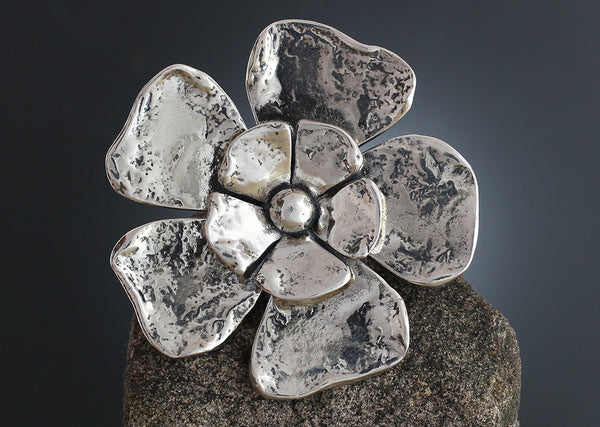 Sterling Silver Large Double Flower Scatter Pin
