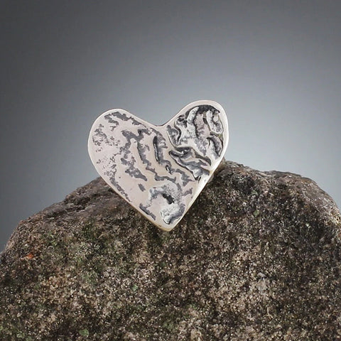 Small Sterling Silver Heart Scatter Pin
