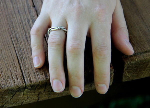 Sterling Silver Wrapped Twig Ring