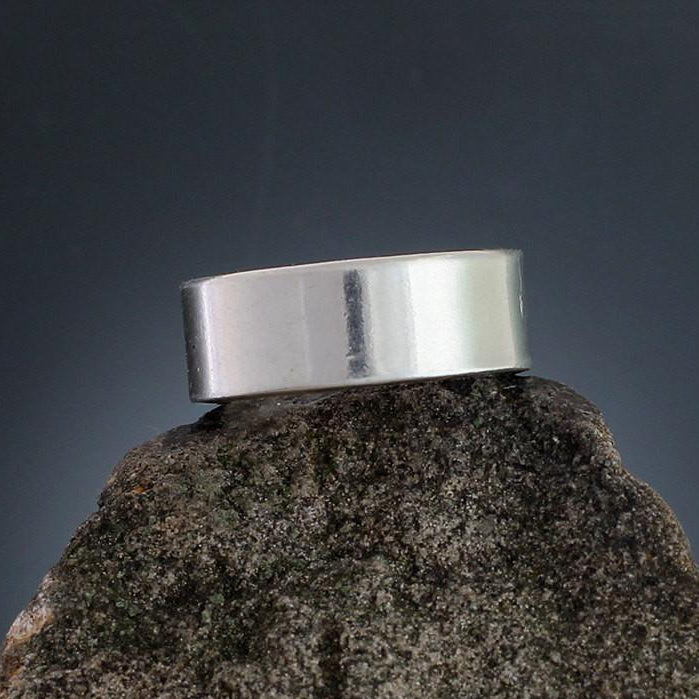Sterling Silver Plain Silver Band