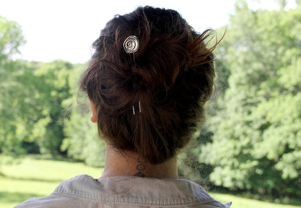 Sterling Silver Spiral Hair Pin