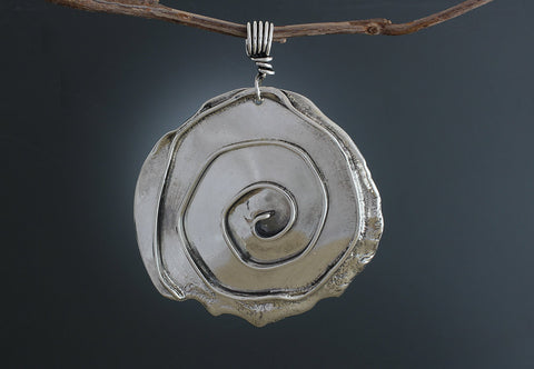 Sterling Silver Large Spiral Pendant