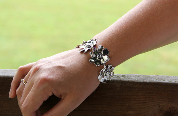 Sterling Silver Sunflower Bracelet