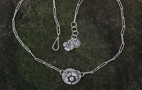 Sterling Silver Water Lily Necklace
