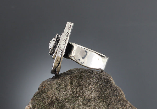 Sterling Silver Large Etruscan Ring