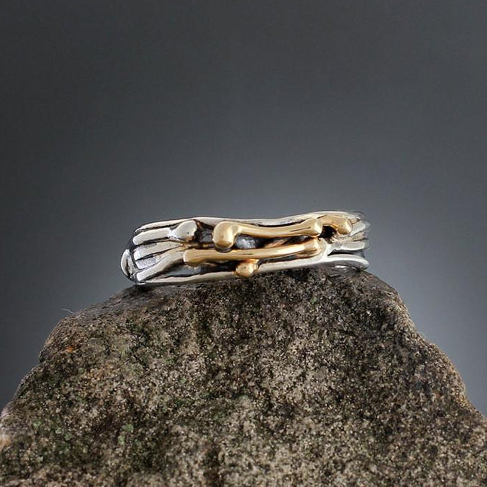 Sterling Silver and Gold Vine Ring