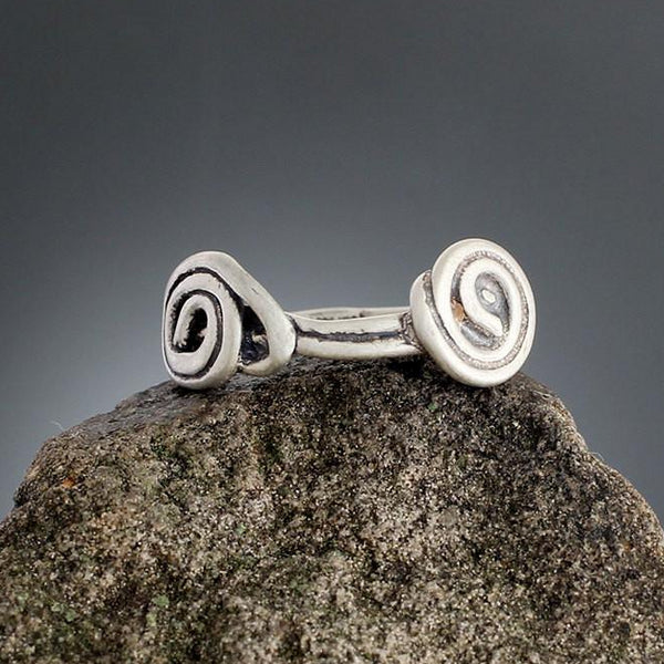 Sterling Silver Double Spiral Vine Ring