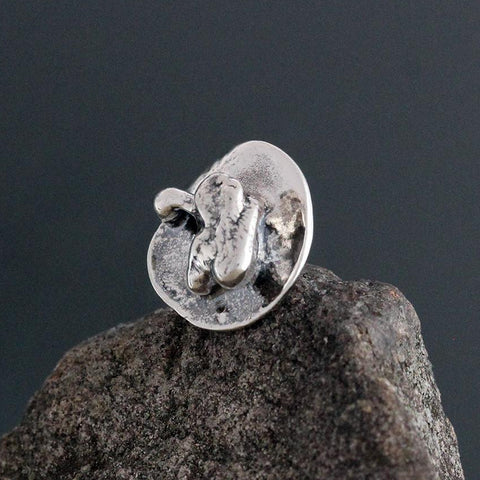 Sterling Silver Abstract Disk Scatter Pin